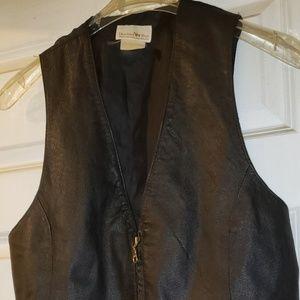 Leather front vest